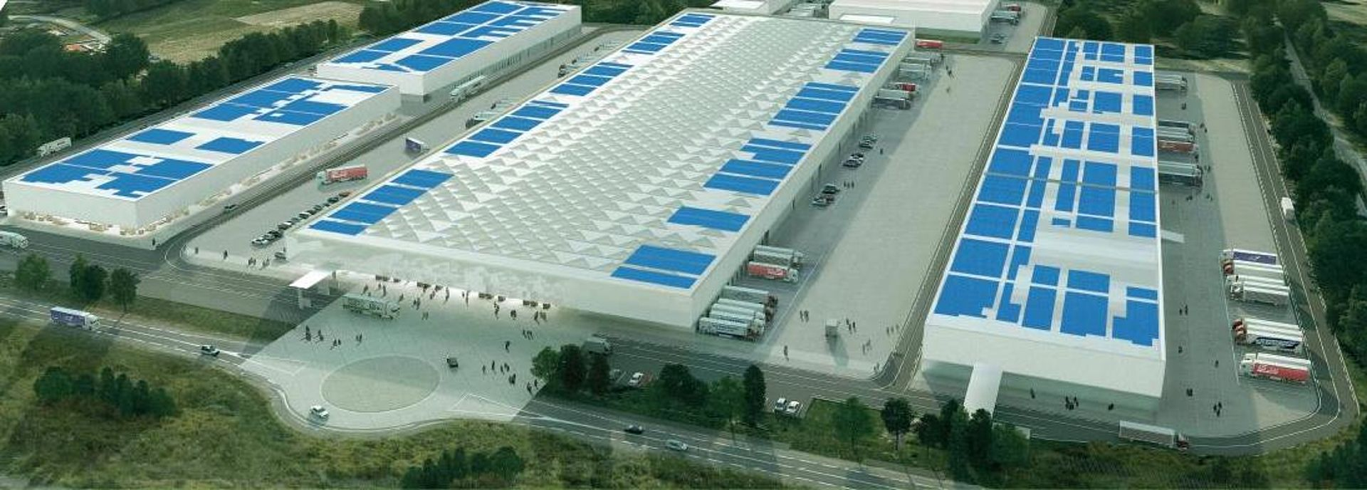 M.I.N industrial estate with PV panels on its roof